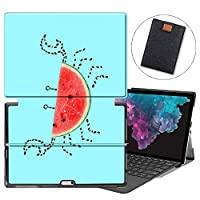 MAITTAO Microsoft Surface Pro 7 case, Folio Smart Stand Strap Case for Surface Pro 7 2019 / Pro LTE 12.3-inch Tablet Sleeve Bag 2 in 1, Compatible with Type Cover Keyboard, Cute Fresh Creative 4
