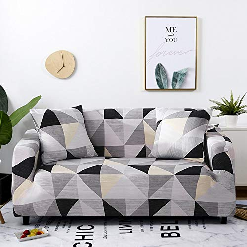 WXQY Funda elástica para sofá a Cuadros, Paquete Completo, Funda de sofá elástica antiincrustante para Sala de Estar, Funda para Silla de sofá, A3, 4 plazas