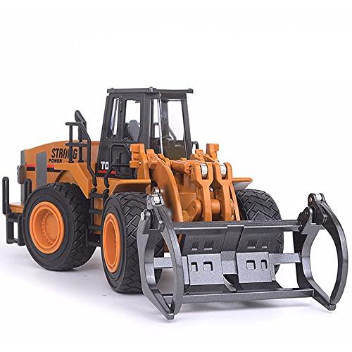 QHYZRV Zinklegierung Modell Ornamente Bulldozer Schiebe Kinderspielzeugauto Simulation Engineering Vehicle Mehrgelenkiger Beweglicher Bagger Junge Mädchen Geschenk