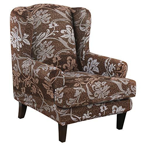 SearchI Ohrensessel Schonbezug, Elastische Sesselbezug Sesselüberwurf Sesselhusse Sofaüberwurf Stretch Husse Schutzhülle mit Modern Muster Sessel Husse für Ohrensessel