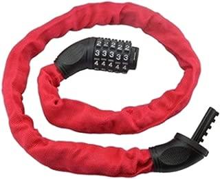 bulingbulingseason 5 Digits Combination Lock with Metal Chain Links Bicycle Motorcycle Anti-Theft Bike Locks