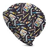 GXLLLW Tubo de pintura Cepillo Arte Suministros Beanie Hat para Hombres Mujeres Moda Knit Hat Keep Warm Cap