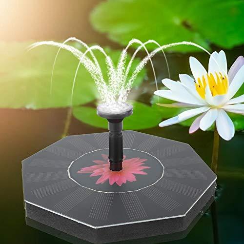 pasamer Kleiner schwimmender Brunnen, automatische achteckige zuverlässige Brunnenpumpe, Pool Garden Aquarium für Vogelbad
