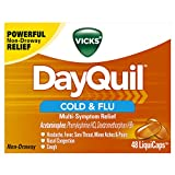 Vicks DayQuil Cold & Flu Multi-Symptom Relief, 48 LiquiCaps - #1 Pharmacist Recommended...