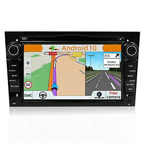 YUNTX Android 10 Autoradio Compatible avec Opel Astra Vectra Zafira | GPS 2 Din | Caméra arrière et Canbus GRATUITES | 7 Pouces | 2GB 32GB | DVD | Dab+ | SD | USB | 4G | WLAN |Bluetooth|MirrorLink
