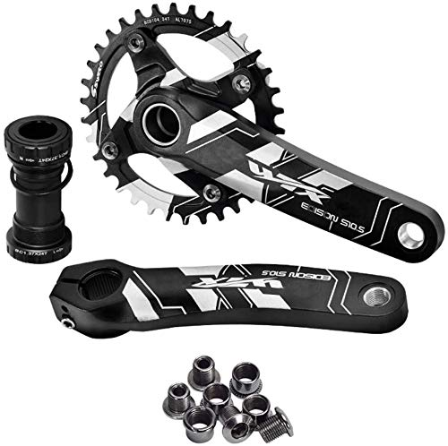 CARACHOME MTB Bicycle Crankset BCD 104MM Aluminum Alloy Crank 170MM Bicycle Crankset Part CNC Crankset,34T