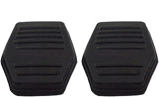 Uzinb 1 par Pedal del Embrague Negro Cubierta de Goma Antideslizante Almohadilla de Repuesto para Ford