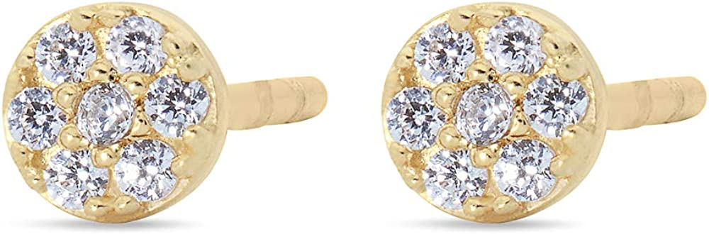 Highstreet Solid Real 14K Gold Stud Earrings  Hypoallergenic for all day wear   Multiple Fashion Styles and Trends for all occasions