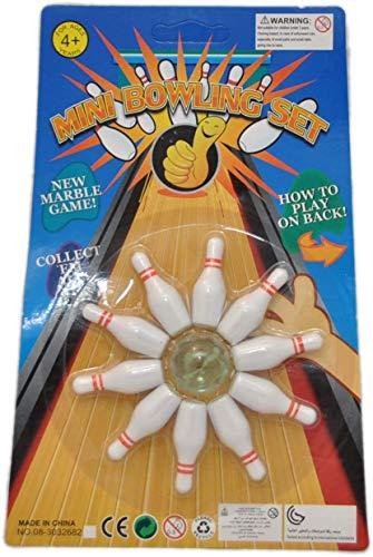 jameitop® Bowling Spiel 10 Pins + 1 Kugel Indoor Kegel Spiel