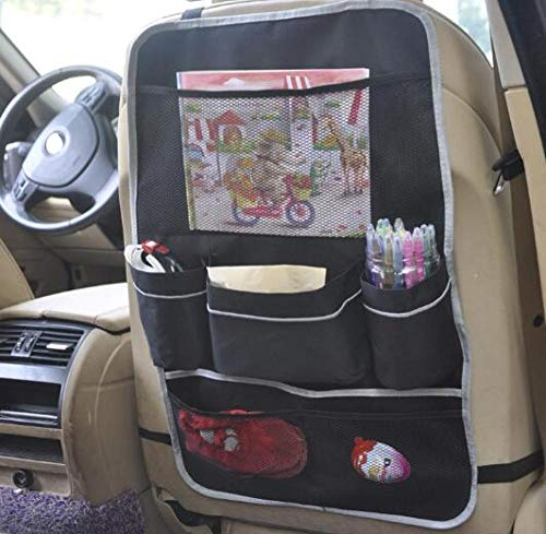 2 Pack 9 Pockets Include 2 Thermal Insulation Pockets SURDOCA Car Backseat Organizer Enhanced Car Seat Back Storage Organizer with 10.1 PVC-Free Tablet Holder Road Trip Essentials for Kids
