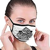 Männer und Frauen Mundgesichtsabdeckung für das Laufen Radfahren Motorrad Zwei Schädel Schriftzug custinside ace Spade