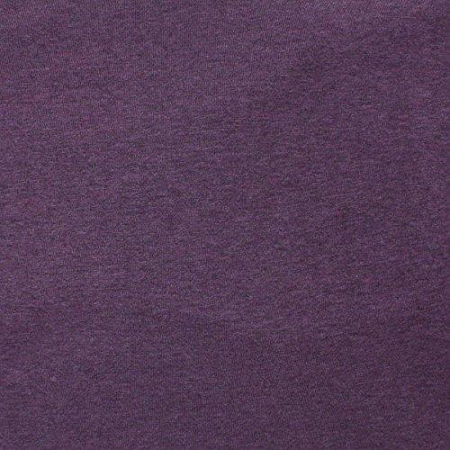 Telio 0590107 Organic Melange Cotton Jersey Knit Purple Fabric by the Yard