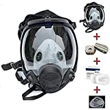 15in 1 Reusable Full Face Respirator Widely Used in Organic Gas,Paint Sprayer, Chemical,Woodworking,Dust Protector