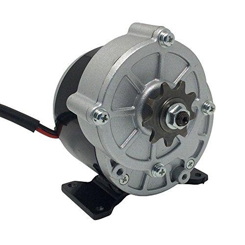 Motor eléctrico de corriente continua con escobillas, piñón de 9 dientes y paso de 12,7 mm; motor para bicicleta y patinete eléctricos