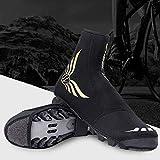 Sawpy Cubrezapatos de Bicicleta - Neopreno Ciclismo Resistente al Viento Impermeable, Invierno Térmico cálido Cubrezapatillas para Hombres Mujeres, Botines de Bicicleta de montaña