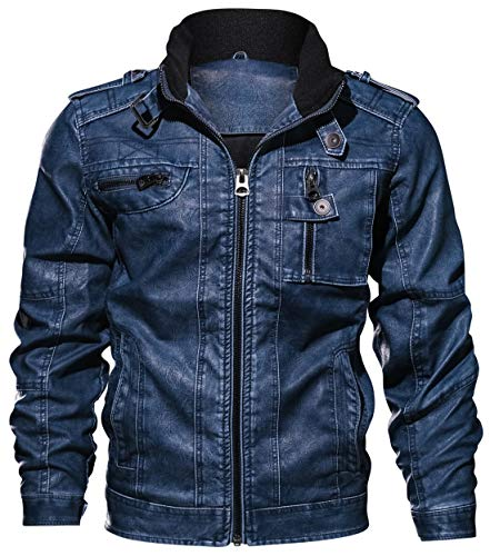 REED Men's New Zealand Lambskin Leather Jacket (2XLTall, Black)