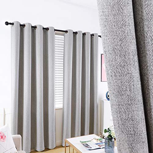 "GRALI Light Gray Grommet Curtains, Zigzag Pattern Panels for Living Room / Kid's Room, Room Darkening Drapes 84"" Long, 52"" Wide, 2 Panels"