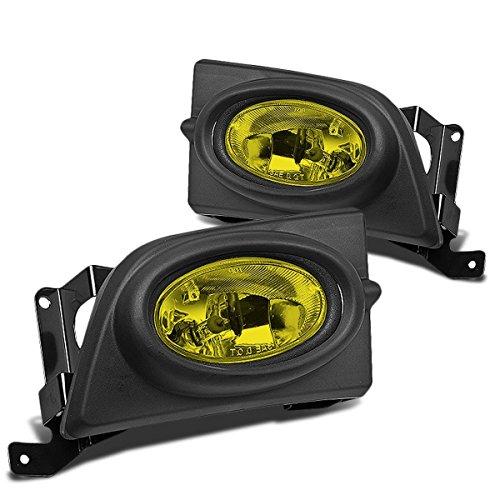 DNA Motoring FL-HC064-AM Pair Fog Light+Switch Amber [For 06-08 Honda Civic 4Dr]