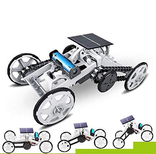 WomToy 4WD Car Toy Assembly Kit, Four-Wheel Drive DIY Climbing Vehicle Electric Mechanical / Solar Power Science Building Toys Circuit Building Projects for Kids & Teens
