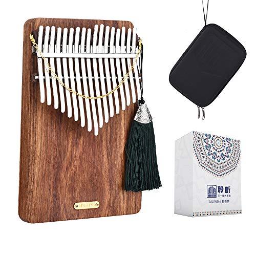 LingTing LT-K17P 17 keys Kalimba Mbira Thumb Piano(sea whisperer)Gift for Kids Adult Beginners Professional