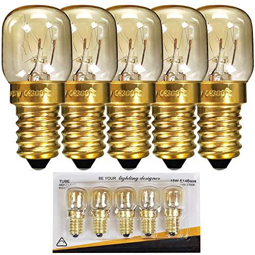 Lampadine Pygmy con attacco a vite SES E14, 300 gradi, per luce notturna o per forno/forno a microonde, E14 15.00W 240.00V (5)