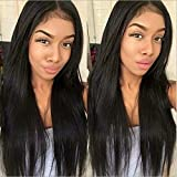Maxine Brazilian straight cheap 4x4 Closure wigs human hair with Baby Hair for Black Women 150% Density Remy Human Hair 14 inch Natural Color