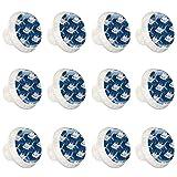 Fish PatternDresser Cajón Perillas De Gabinete De Cocina Hardware Con Tornillos Perillas De Gabinete De Vidrio12 PiezasWholesale