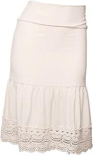 Peekaboo-Chic Desert Rose Half Slip Skirt Extender - Crochet Trim Skirt Extender - Modest Skirt Extenders for Women