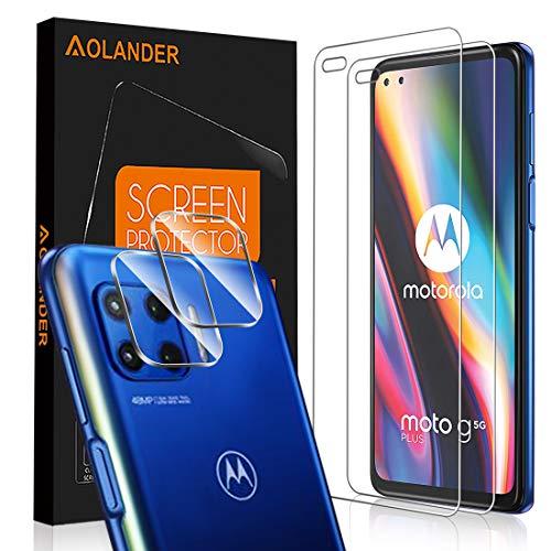 POVINMOS per Motorola Moto G 5G Plus Pellicola Protettiva Vetro Temperato, 9H Durezza Protezione dello schermo Screen Protector [Scratch Resistente] [Senza Bolle] Proteggi Schermo【3 Pack】