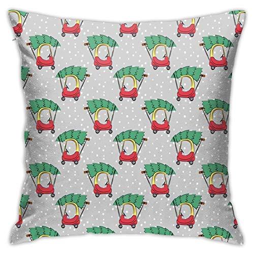 Lil Tyke - Funda de almohada para coche, diseño de Navidad, diseño de pilasa, para sofá, cama, silla, coche, 45,7 x 45,7 cm