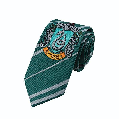 Cinereplicas - Harry Potter - Corbata Nios - Licencia Oficial - Casa Slytherin - Verde y Gris