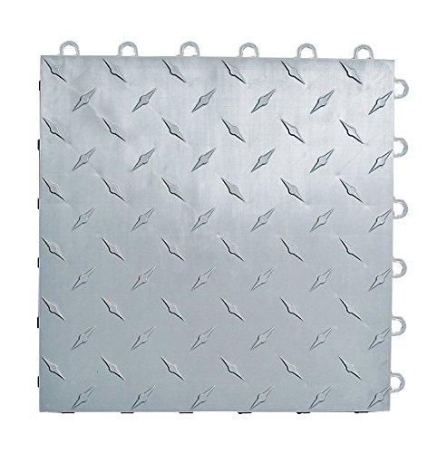 Speedway Garage Tile 789453S-50 Diamond Garage Floor 6 LOCK Diamond Tile 50 Pack, Silver