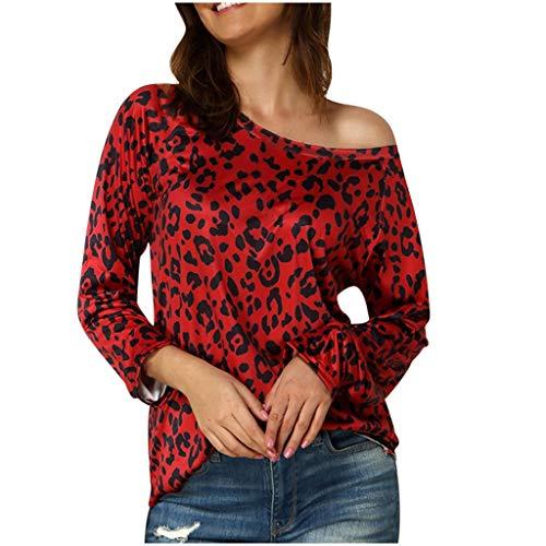 Luckycat Jersey Mujer otoño 2020 Jersey Lana Mujer Invierno Colores Abrigos Mujer Invierno Rebajas Desigual Sudaderas Tumblr Adolescentes Chicas Top Estampado De Leopardo de Moda Mujeres Camiseta