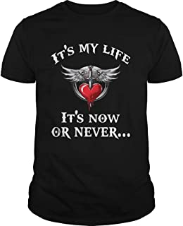New Collection T shirt for Woman, Man anniversary Bon Jovi its my life its now or never shirt
