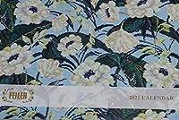 フェイラーFEILER ノベルティ 2021年カレンダー壁掛け シェニール織 商品紹介 ハンカチ・巾着・ポーチ・バッグ掲載 コレクション