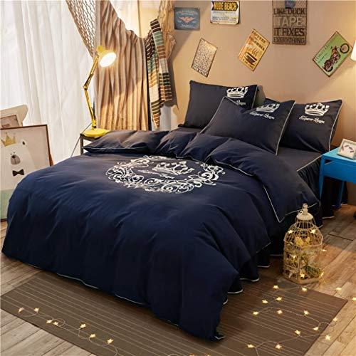 Effen kleur mat katoen 4-delige set Coverlet - dikker warm huis studentenslaapzaal eenpersoons tweepersoonsbed alle seizoenen sprei