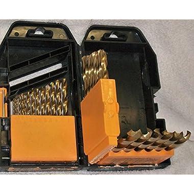 Titanium Nitride High Speed Steel Drill Bit Set 29 Piece