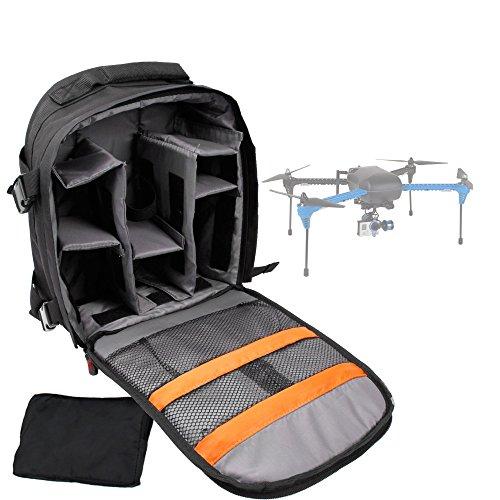 DURAGADGET Sac à Dos de Transport Noir Compatible avec Drone 3DR 3drobotics Iris+ (Iris Plus), Syma X4, Quadcopter with LEDs 4 Channel Fun - Compartiments de Rangement