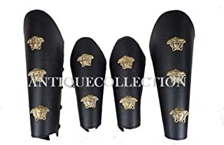 Halloween Christmas Theater Costumes Medieval Roman Leather Greek Armor Leg and Arm Guard