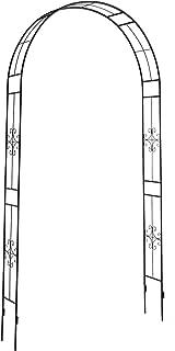 225 x 115 x 37 cm 28KD Porta bloccabile Colore: nero Metallo Cancelletto per piante rampicanti defacto Arco per rose integr
