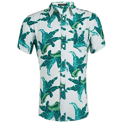 Hemd Herren Hawaiihemd Freizeithemd Strandhemd Sommerhemd Kurzarmhemd Sommer 3D Farbdruck Trendfarbe Kurzarm Shirt Bluse CICIYONER