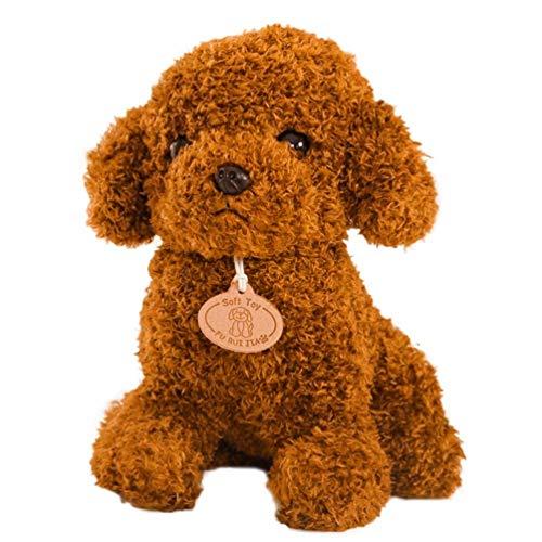 Toddmomy 1 Pza Realista de Peluche de Perro Cachorro de Peluche Suave Juguetes de Peluche para Niños Pequeños Regalos Del Día de San Valentín (Marrón Claro)