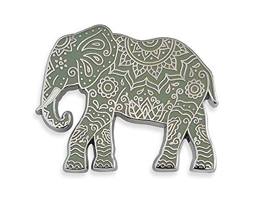 Pinsanity Henna Elephant Enamel Lapel Pin