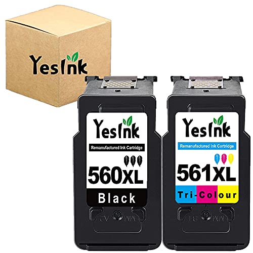 PG-560XL CL-561XL Sostituzione per Canon 560 561 XL PG 560 561 560 XL 561 XL PG-560 CL-561 Cartucce d inchiostro per Canon Pixma TS5350 TS7450 (1 Nero, 1 Tri-colore)