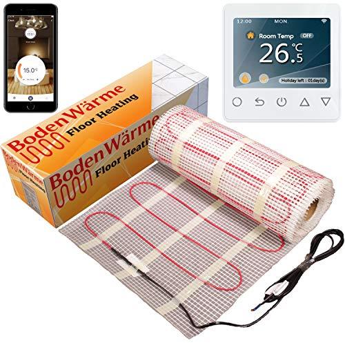 Calefacción por suelo radiante de BondenWärme (200 w/m²) + termostato. Todos los tamaños. BondenWärme calidad prémium, calefacción eléctrica para debajo de las baldosas.  200 wattsW