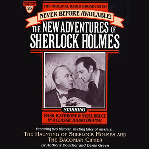 The Haunting of Sherlock Holmes and Baconian Cipher audiobook cover art