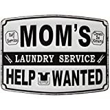 Lily's Home Funny Mom's Laundry Room Decor, Metal Hanging Sign, Novelty Gifts for Mom