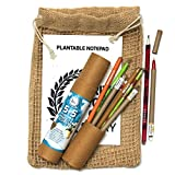 bioQ Plantable Stationery Bio-degradable and Recycled Combo Set 5 Seed Pen with 5