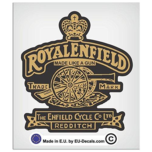 EU-Decals - MioVespa Collection Adhesivo laminado de Royal Enfield Made Like A Gun de 100 mm - 10 cm