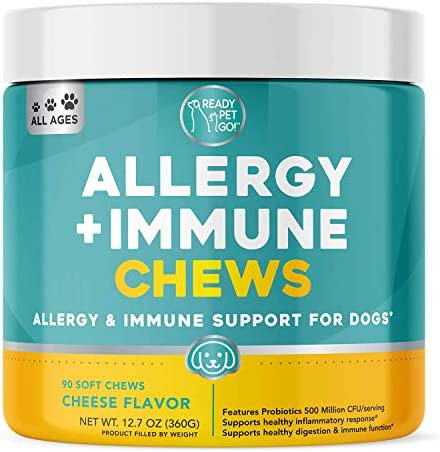 Ready Pet Go Allergy Immune Supplement for Dogs with Itch Relief Allergy Relief Omega 3 for product image